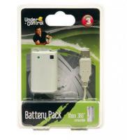 Xbox 360 Dobíjecí Baterie Pro Ovladač - Bílá